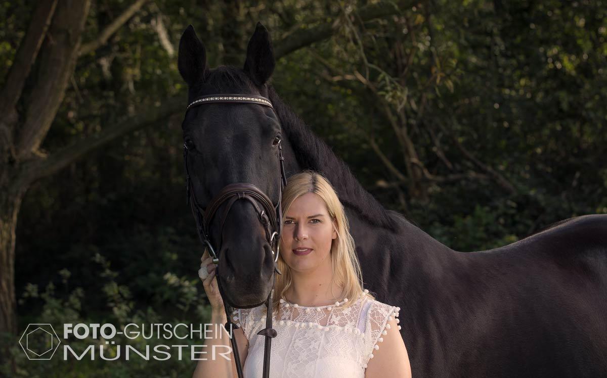 Gutschein für Foto mit Pferd